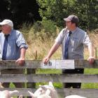 John (left) and Mark Cheesman, from Whitestone Livestock Ltd, are caught up in the Mycoplasma...