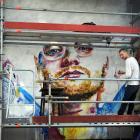 International pop star Ed Sheeran's likeness starts to show through in Dunedin artist Tyler...