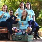 Suitcase Theatre members (from left) Laura Wells, Vincent Batt, Sofie Welvaert (front), Gabby...