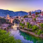 The Unesco-listed Mostar Bridge in Sarajevo crosses the Neretva River. Photo: Getty Images