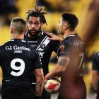 Danny Levi, Adam Blair and Shaun Johnson during their disastrous World Cup quarter-final loss to...