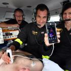 Otago Regional Rescue Helicopter crew (from left) St John paramedic Doug Flett, intensive care...