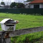 A resident of Woodstock-Rimu Road alerted police after stars had been stuck on their letterbox...