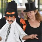 Fringe puppeteers Sergio Aguilar and Ana Lorite perform with their puppet ``Paco'' in the Octagon...