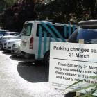 Daily and weekly rates are being scrapped at council-owned car parks in Queenstown. Photo: Louise...