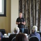 Farm safety systems expert Mike Johnston leads a workshop in Oamaru on Thursday. Photo: Sally...