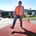 Dunedin City Council transport engineering and road safety team leader Hjarne Poulsen steps out...