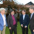Former Selwyn College residents (from left) High Court Judge Justice Simon Moore, the Anglican...