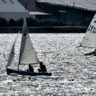 Competing in the South Island secondary schools sunburst championships at Otago Harbour yesterday...