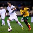 Tyler Boyd dribbles the ball for the All Whites in 2014. Photo: Getty Images
