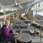 University of Otago associate librarian Maureen Miller relaxes in the Central Library, which has...