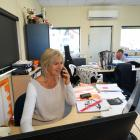 A&P Show event organiser Jane Stalker at her desk in the Upper Clutha A&P Society office....