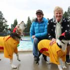 Jody Hastie (left) with her dog Ash and Cath Brock with her dog Billy, both of Earnscleugh....
