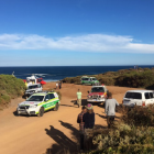 A man attacked by a shark in Western Australia's south managed to body surf back to shore before friends used rope from his board as a tourniquet. Photo: Twitter