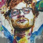 Ed Sheeran's visit to Dunedin was marked with a mural on Bath St. Photo: ODT files