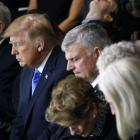 United States vice-president Mike Pence, President Donald Trump, Franklin Graham and the Graham...