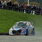 Hayden Paddon and John Kennard in action on Special Stage 9 in Dunedin. Photo: Gregor Richardson