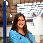 Kate Heffernan (18)  relaxes for a moment at the Edgar Centre this week after playing for the...