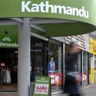 Kathmandu's annual winter sale, pictured in Dunedin yesterday, has been undermined by an...