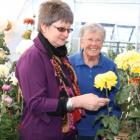 At Left) Laura Shefford, Te Anau Entry Secretary and Marie Thomas who is a grower/exhibitor of Te...
