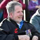 Leading Seaman Roy Miller, of Dunedin, at the Anzac Day service outside the Montecillo Veterans'...