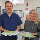 Dr Jason Hill, clinical lead and Emma Bell, Programme Manager for the Southern DHB National Bowel...