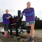 Fiona Laing (left) and Natalie Savigny prepare to walk the entire Otago Central Rail Trail from...