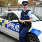 New Oamaru police officer Constable Olivia Winbush, who has been in the town since mid-March....