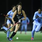 Pippa Hayward in action for the Black Sticks against India. Photo: Getty Images