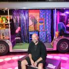 Priscilla, Queen of the Desert technical stage manager  Garry Gibson takes a break in front of...