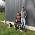 Flynn (9), left, and his dad Marcus Nurse, with their dogs were among those who competed in the...