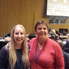 Enjoying the experience of attending the United Nations 62nd Commission on the Status of Women in...