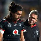 Tohu Harris is one of three Warriors that will miss tomorrow's match against the Melbourne Storm....