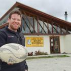 Upper Clutha Rugby Football Club committee member Luke Robson pictured outside the clubrooms...