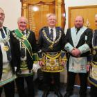(From left) Right Worshipful Brother Mel Darling, Provincial Assistant Grand Master, Province of...