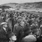 Looking towards St Clair over the crowd during the Forbury Park Trotting Club's Autumn meeting. -...