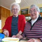 Retiring Tokomairiro Ploughing Competition catering volunteers Nancy Allison (left) and Joan...