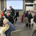 Some of the 140 people asked for their views on the future of Wanaka Airport at consultation...