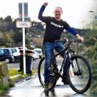West Harbour Community Board chairman Steve Walker celebrates the news that the St Leonards to...