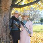 Tamworth Country Music Princess Chey Conlon (left) and Tamworth Queen of Country Music Alexandra...