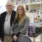 Prof Warren Tate and Dr Eiren Sweetman. Photo: Gerard O'Brien