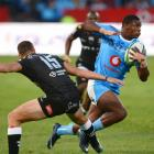 Warrick Gelant on the charge for the Bulls against the Sharks. Photo: Getty