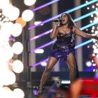 Jessica Mauboy representing Australia during the second semi final of Eurovision Song Contest...