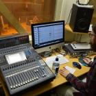 Dunedin-born sound designer and musician Jimi Wilson at work. Photo: Supplied
