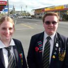 Clutha District Youth Council Tokomairiro High School representatives Annabelle Philps and...