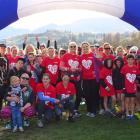 Some of the runners who signed up for the Mother's Day Fun Run/Walk on Sunday. The run raised...