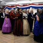 Guests sing Rule Britannia at the invitation ball at the Scottish Hall at last year's Victorian...