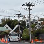 Network maintenance is undertaken at the corner of Bayfield Rd and Arawa St, Dunedin, yesterday...