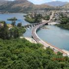 Both lanes of the new, $22million, Kawarau Falls Bridge are expected to open to traffic about 2...