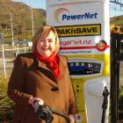 Energy and Resources Minister Megan Woods unveils Queenstown's first high-speed electric vehicle...
